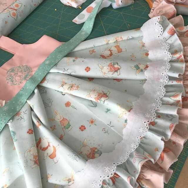 Kinder Kouture Easter dress in progress | ROUPAS DE CRIANÇA ...