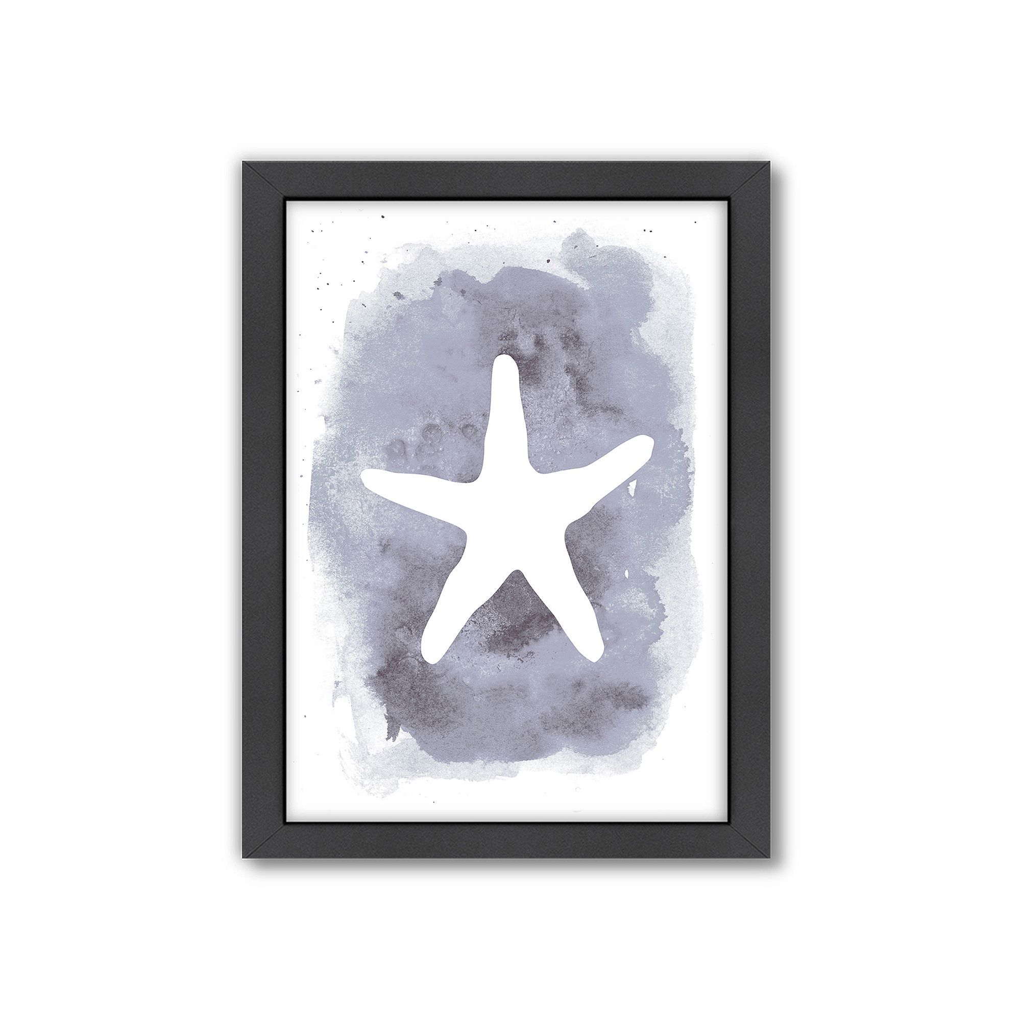 Americanflat Starfish Framed Wall Art Grey Starfish Painting Painting Frames Painting Prints