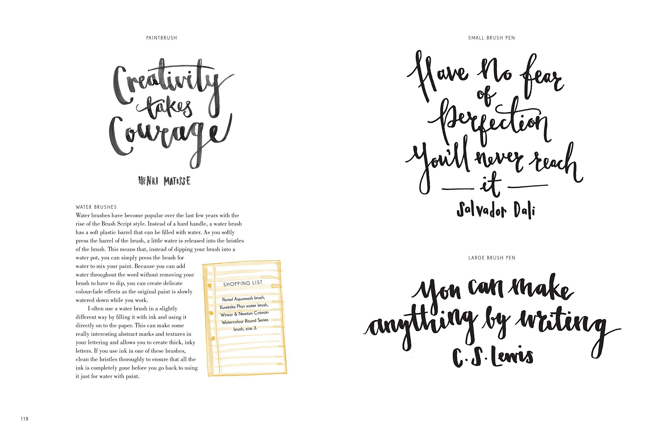 Hand Lettering and Modern Calligraphy Manual by Haynes