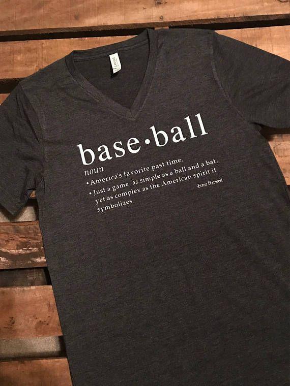 ad8af3ec3e Baseball definition meaning of baseball Unisex V-neck or crew neck short  sleeve short / Baseball Mom