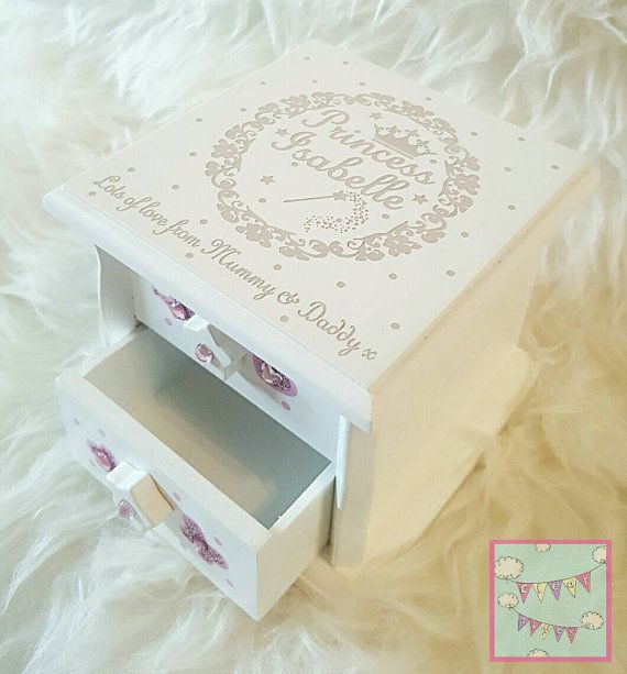 Personalised Musical Jewellery Box Christening Gift Girls Birthday