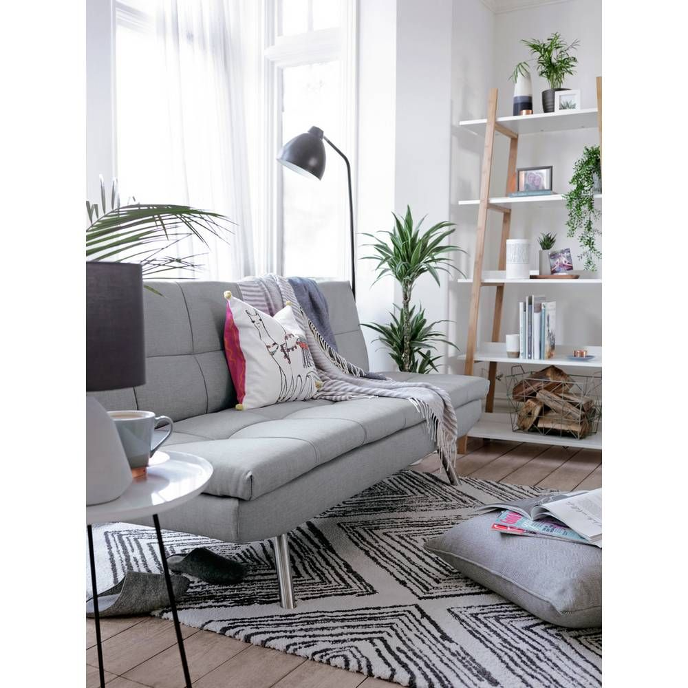 Buy Argos Home Nolan 3 Seater Fabric Sofa Bed Light Grey Sofa Beds Argos Fabric Sofa Light Gray Sofas Fabric Sofa Bed