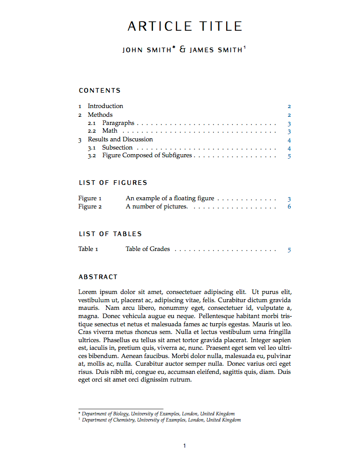 Latex Templates  Articles  General School    Latex