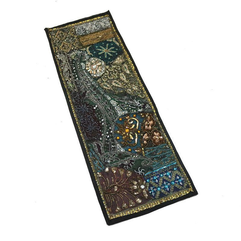 "30X10"" Indian Home Decor Patchwork Runner Antique Kundan Unique Cotton Tapestry  #Namasteart #AntiqueStyle"