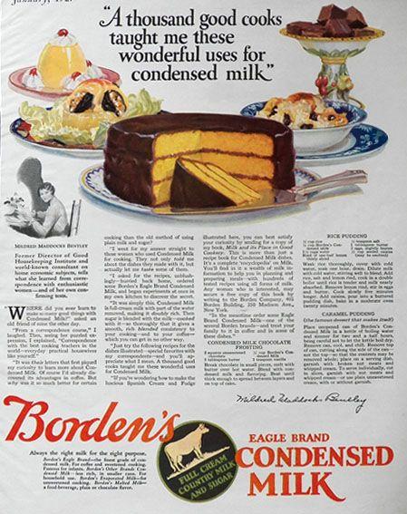 1927 Borden S Condensed Milk Ad Caramel Pudding Recipe Vintage Beverage Ads Other Caramel Pudding Recipe Pudding Recipes Milk Recipes