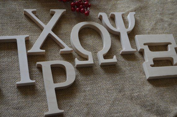 Greek Wooden Sorority Letters Fraternity Letters Custom Greek