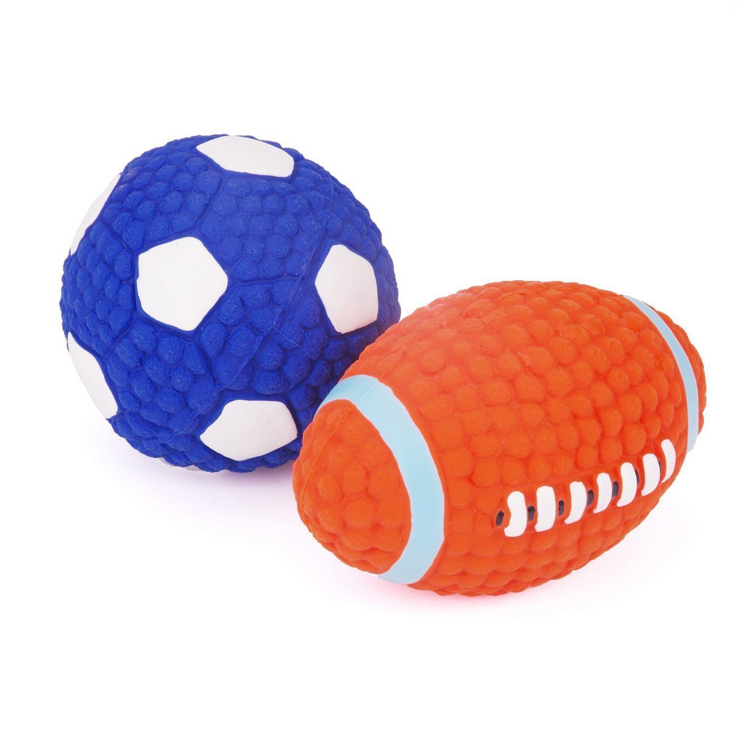 Pehost Dog Squeak Toys Football Soccer Interactive And Chewing