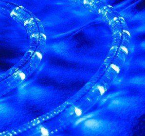 Blue 10 ft 110v 120v 2 wire 12 led rope light christmas lighting blue 10 ft 110v 120v 2 wire 12 led rope light aloadofball Choice Image