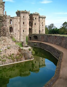 Raglan Castle in Monmouthshire, UK