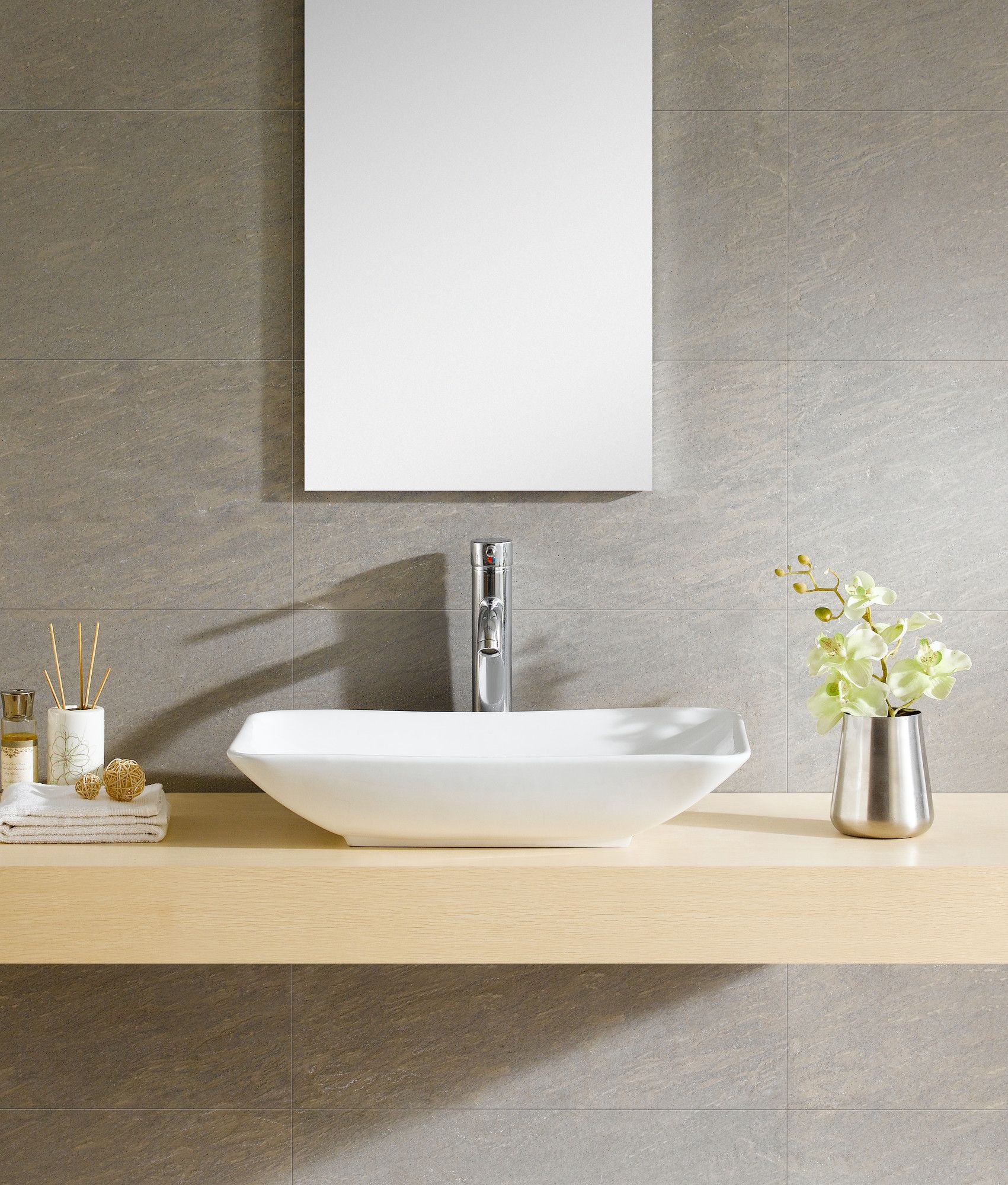 You Ll Love The Modern Vitreous Rectangle Vessel Bathroom Sink At