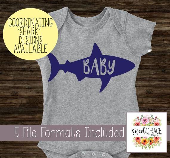 8748b6dc Baby Shark SVG 7 Design Family Bundle   Baby Shark SVG, Mommy Shark SVG, &  More. Make T-Shirts with