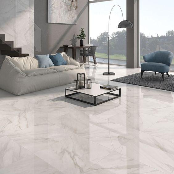 Calacatta White Gloss Floor Tiles Grey Vein Design House Ideas