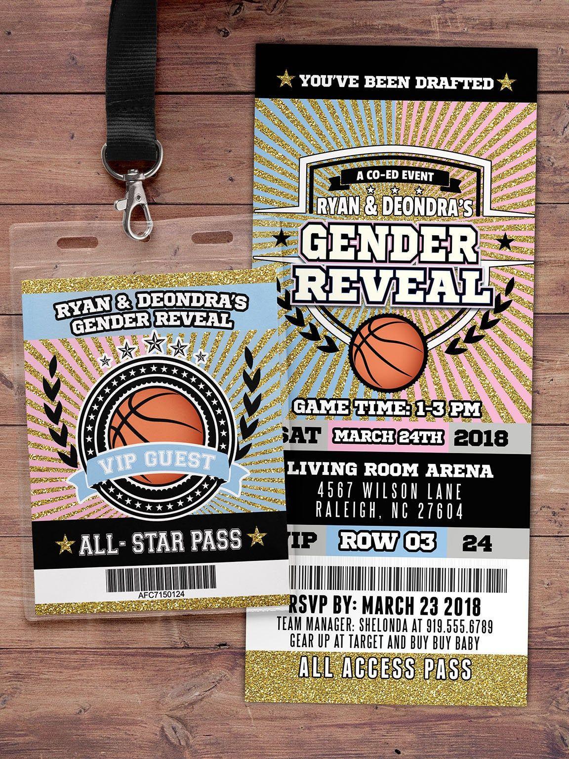 Basketball Ticket Invitation Baby Shower All Star Birthday Etsy In 2020 Ticket Invitation Football Ticket Invitations Sports Birthday