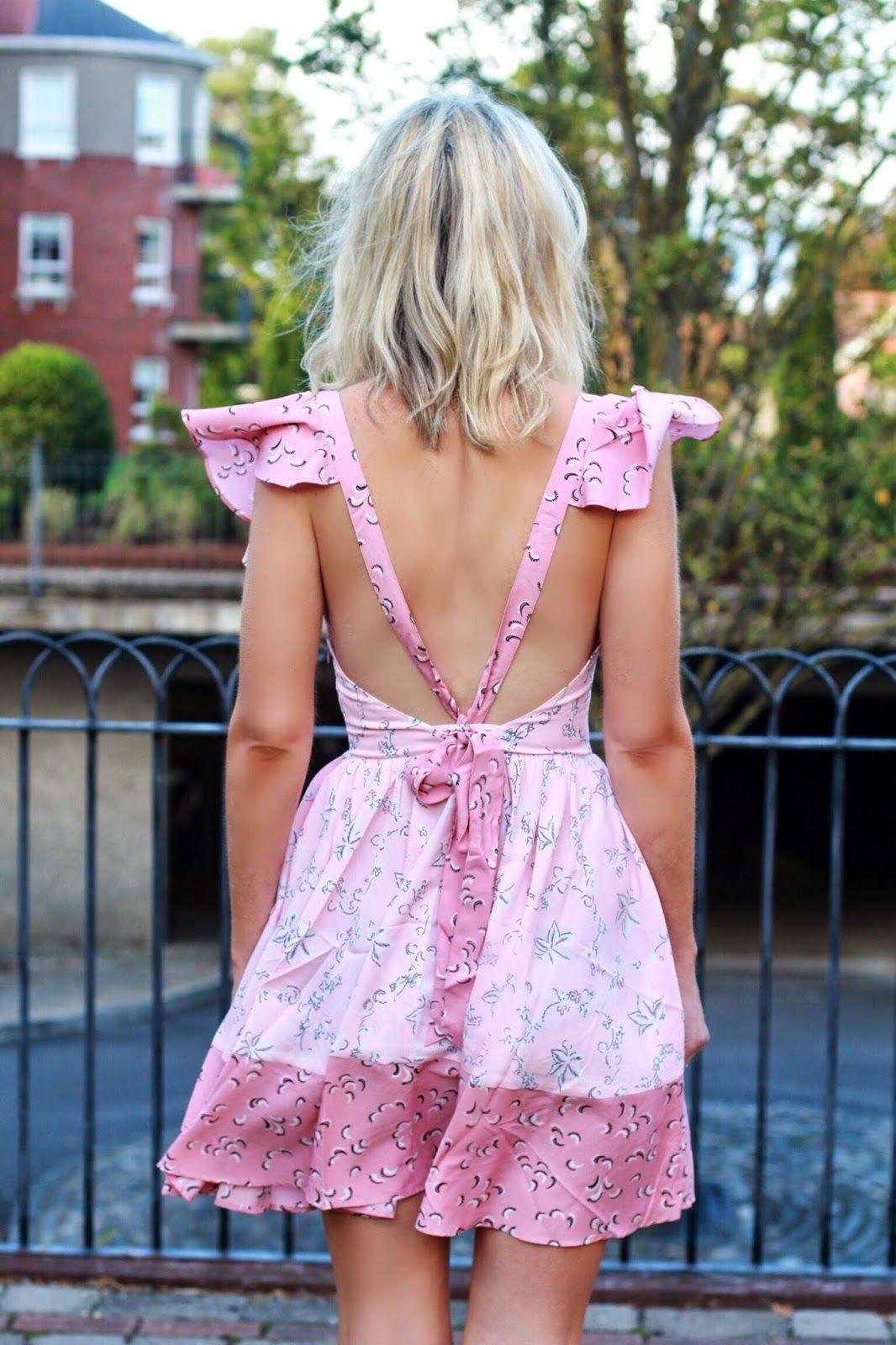 Asos pink backless dress | everything | Pinterest | Backless dresses ...