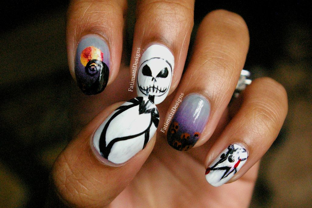 Nightmare Before Christmas Nails | ✩ Makeup & Beauty ✩ | Pinterest ...