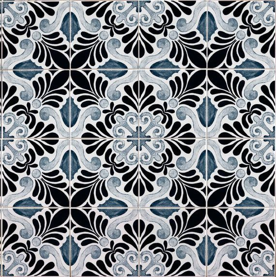 Tile Stickers Blue Lisbon Quart Decal Vinyl Floor Flooring Bathroom Kitchen Stairs