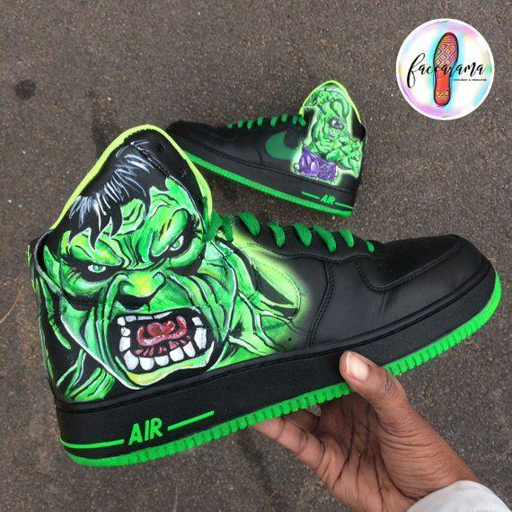 1229c2cd60d4 Custom Incredible Hulk shoes