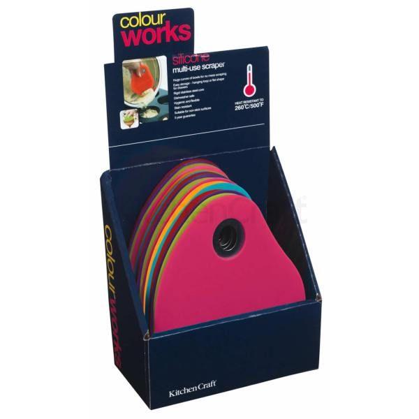 Colourworks Espositore per 12 raschietti per insalatiera in silicone