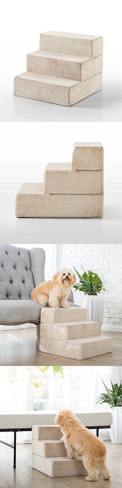 Ramps And Stairs 116389: Zinus 3 Step Comfort Foam Pet Stairs Pet Ramp Pet
