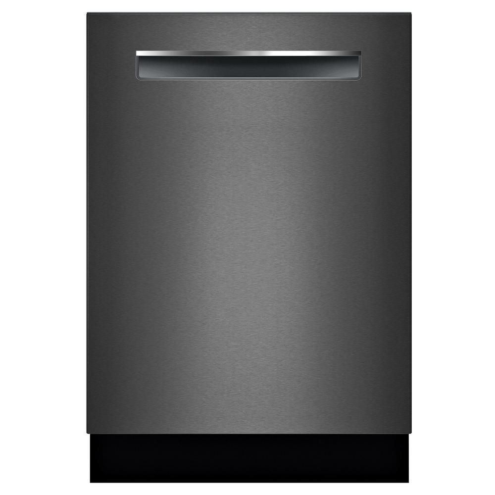 Bosch 800 Series Top Control Tall Tub Pocket Handle Dishwasher In Black Stainless With Stainless Steel Tub Crystaldry 42dba Shpm78z54n The Home Depot Steel Tub Built In Dishwasher Black Dishwasher