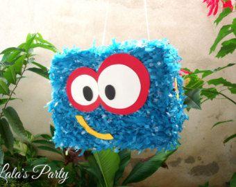 Feliz Robot moderno pequeño robot Hit Piñata Party Game y Decoración Robot cumpleaños temático