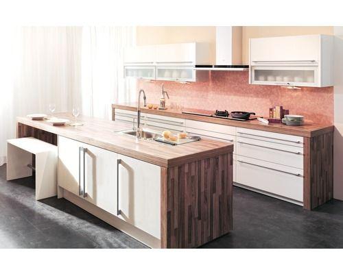 Hornbach Küchen küchenarbeitsplatte piccante walnuss block 4100x600x38 mm