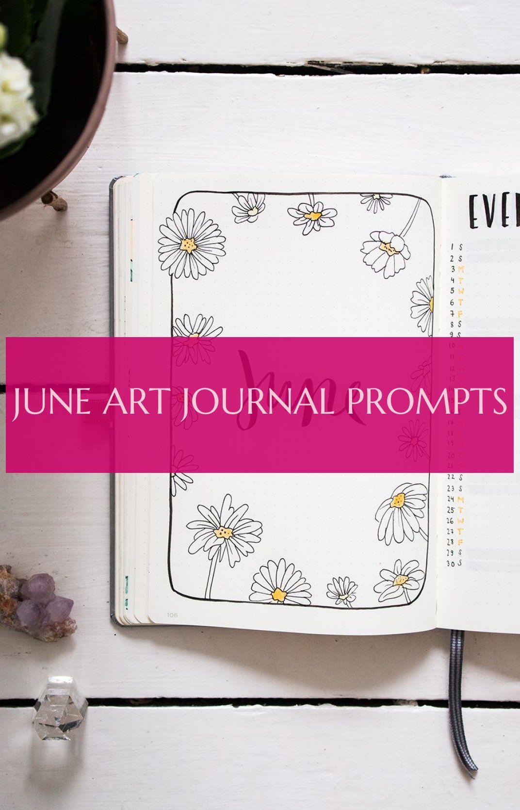 June Art Journal Prompts Eingabeaufforderungen Für Das Kunstjournal Im Juni