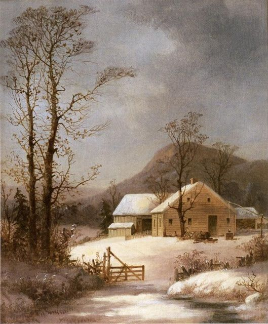It's About Time: Snow by George Henry Durrie 1820–1863