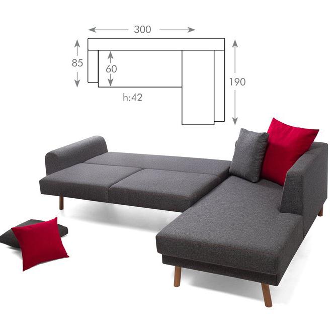 كنبه زاويه يمين مع اريكة للاسترجاء تصير لك سرير Decor Sofa Couch Home