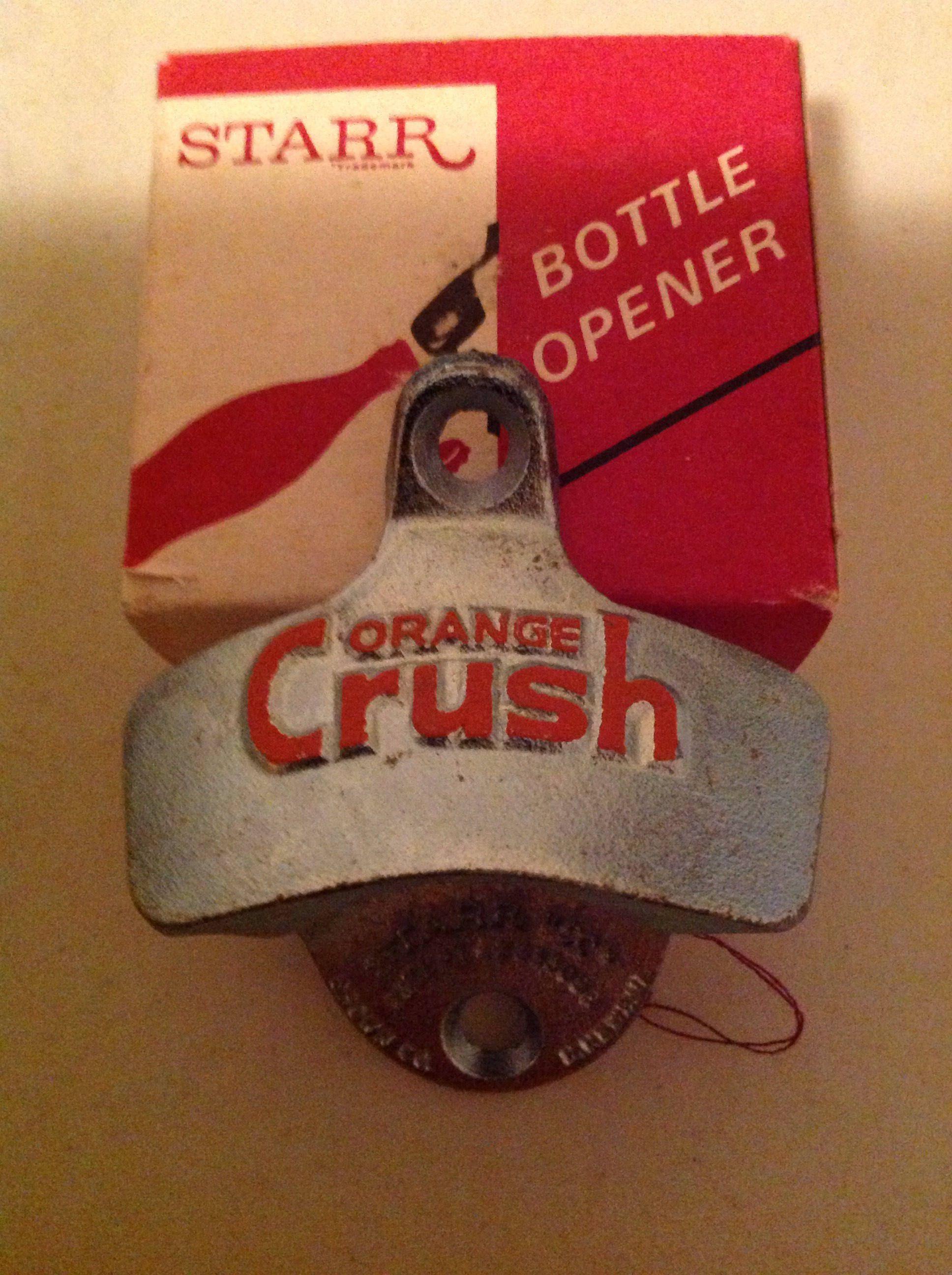 Vintage Orange Crush Soda Wall Mount Bottle Opener Starr X In Box Nos By Hutchhouseofvintage On Etsy Orange Crush Soda Soda Bottle Opener Orange Crush