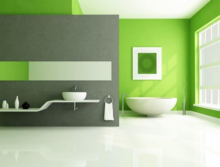 Le Vert Couleur De La Chance L énergie Et Green Bathroom