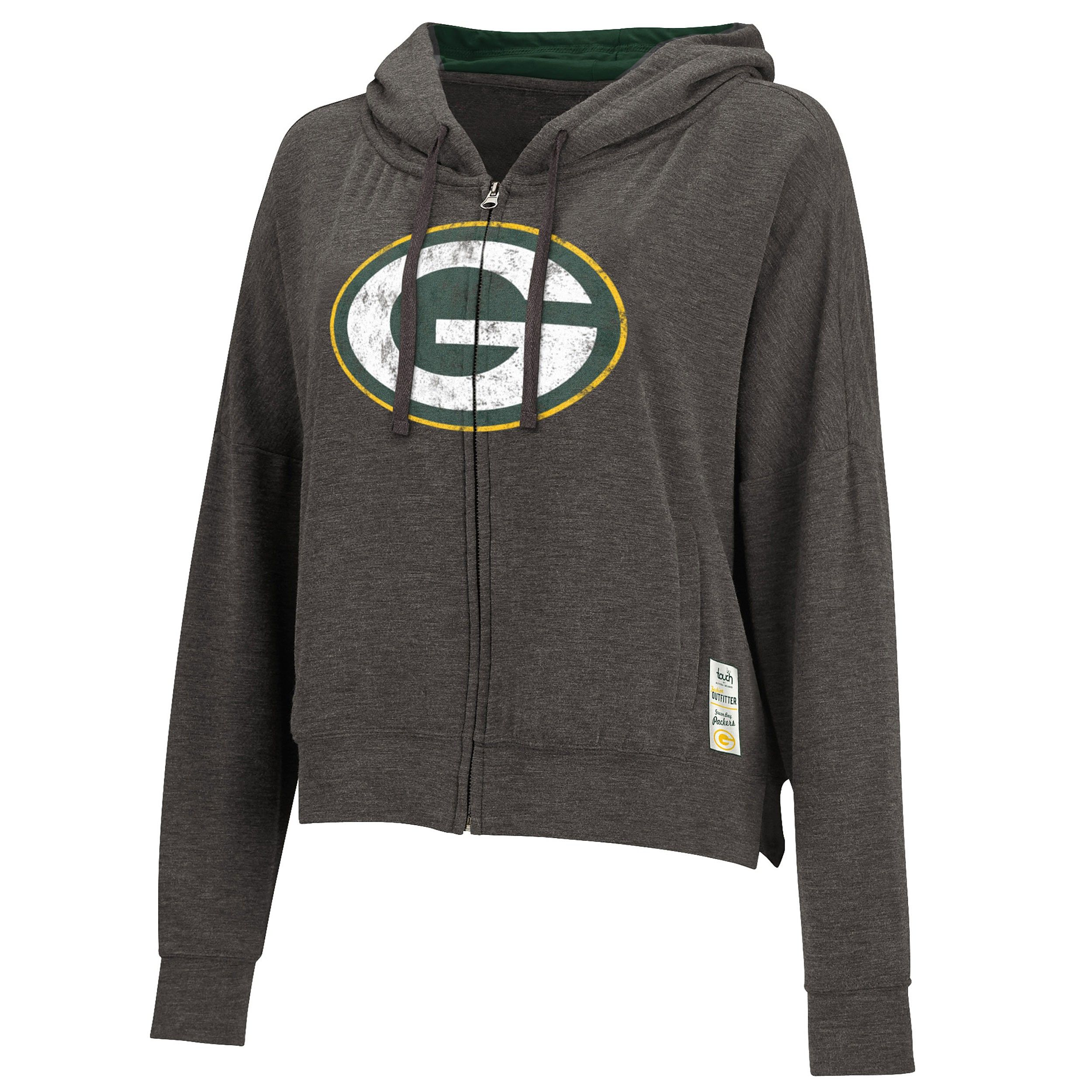 reputable site a3508 e375f Green Bay Packers Women's Plus Size Hitter Hoodie | Go Pack ...