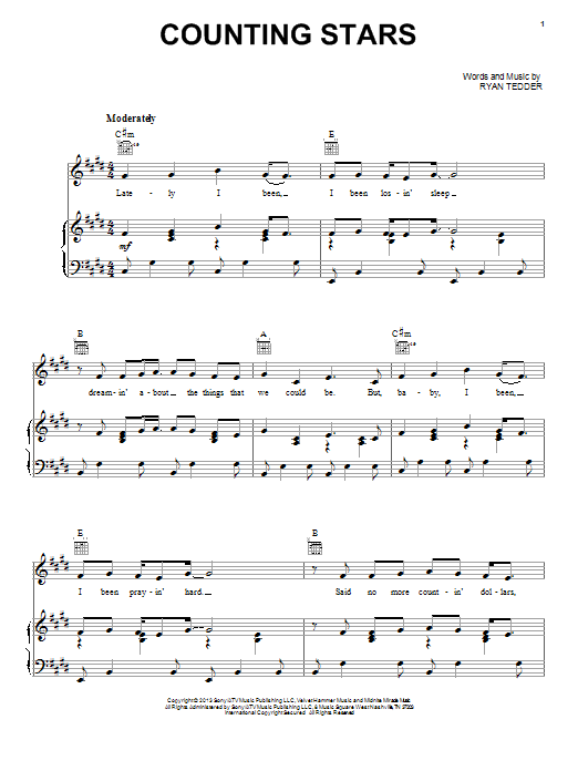 Drum drum chords for counting stars : 1000+ images about Sheet Music on Pinterest