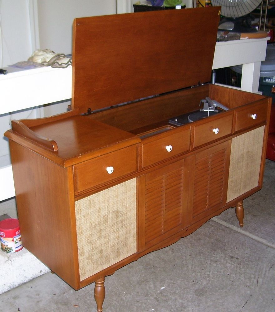 Vintage 1960s Radio Phonograph Pilot Model 203 Garrard Record 1966 Mustang Philco Wiring Diagram Player Console I Saved My Money From Job Helping A Man Paint Houses All Summer And Bought
