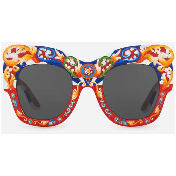 61096125cee5 Dolce   Gabbana Square Sunglasses in Hand-Painted Wood ( 4