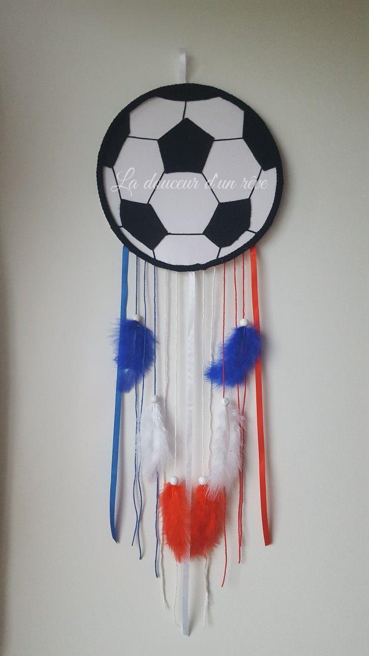 Attrape Reve Tricotin Ballon De Foot France Bleu Blanc Rouge Bleu Blanc Rouge Deco Chambre Enfant Ballon De Foot