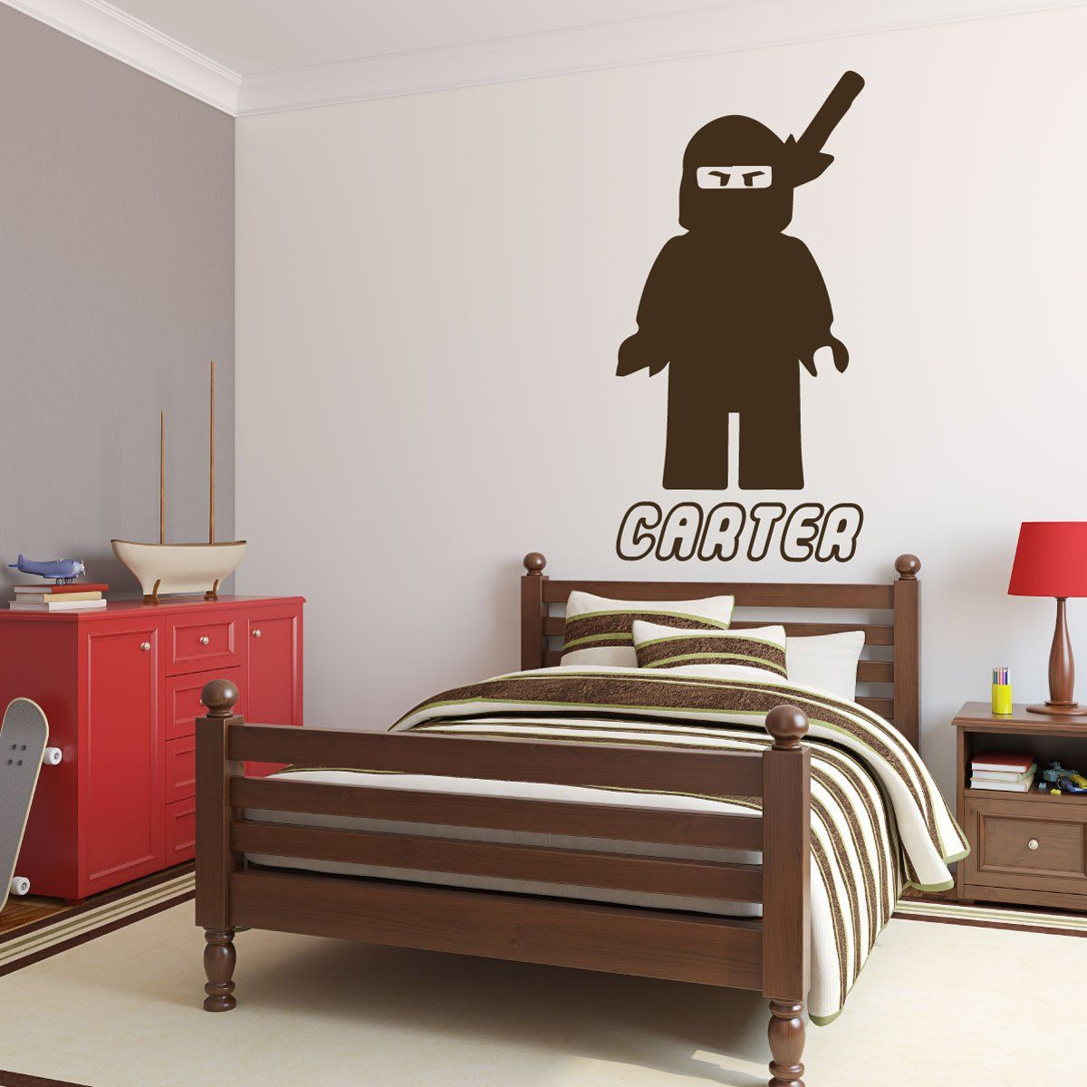 Personalized Wall Decals - Lego Ninjago Samurai with Name Below ...