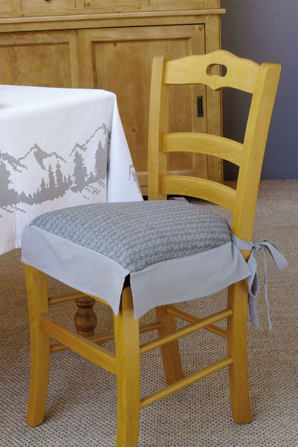 galette de chaise en coton 40x40 galette de chaise galettes et chaises. Black Bedroom Furniture Sets. Home Design Ideas