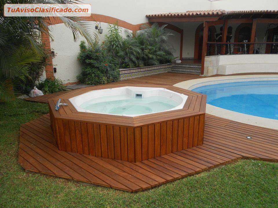 Imagen relacionada thalasso spa pinterest for Jacuzzi exterior madera