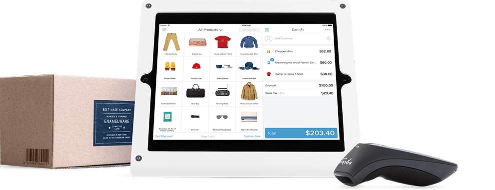 iPad running Shopify POS Retail pos system, Point of