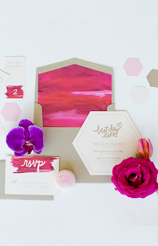 Gorgeous geometric wedding invitation >> Inspired by This