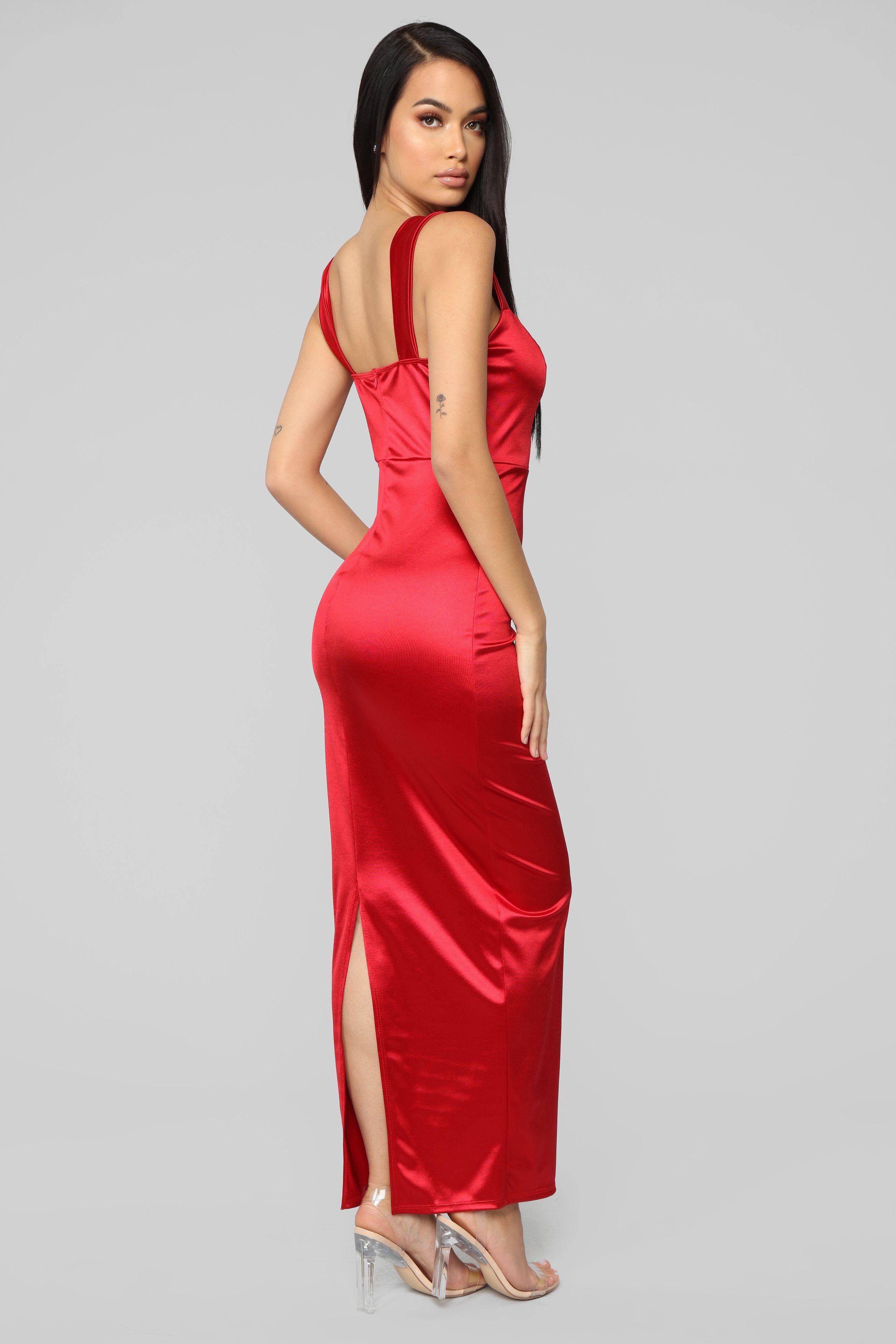 Close Up Ready Dress Red Dresses, Red dress, Silk