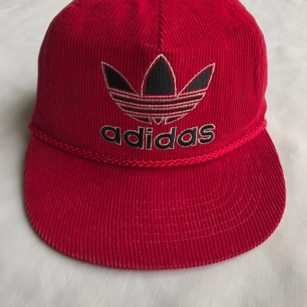 efffeeb0d59 RARE Vintage Adidas Corduroy Hat - Trefoil Logo Red 80s 90s Snapback 1 Size  VTG  fashion  clothing  shoes  accessories  mensaccessories  hats (ebay  link)