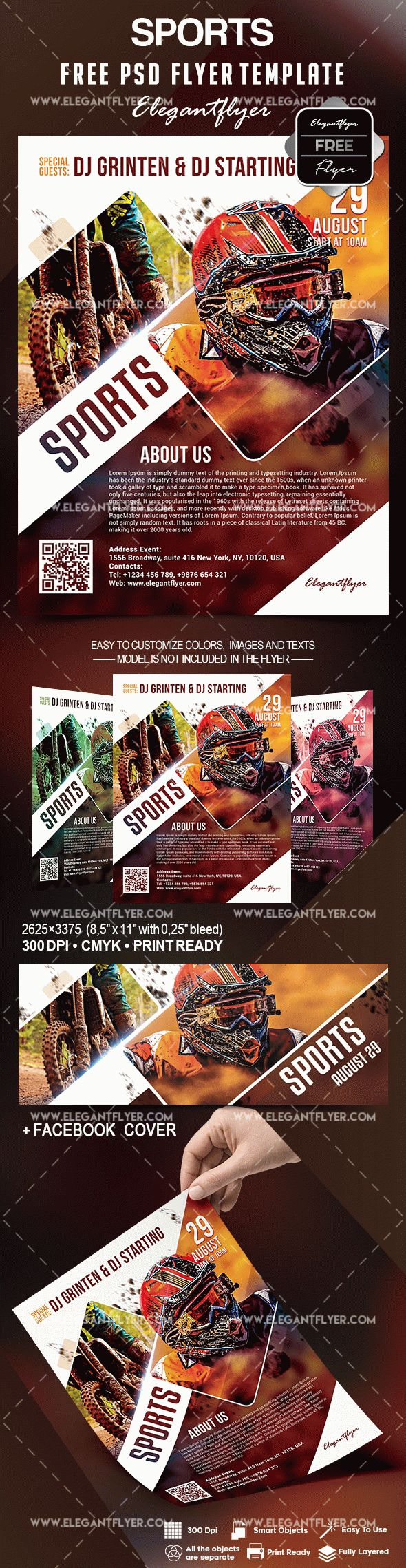 Free Sports Flyer Template Flyer Template Event Flyer Templates