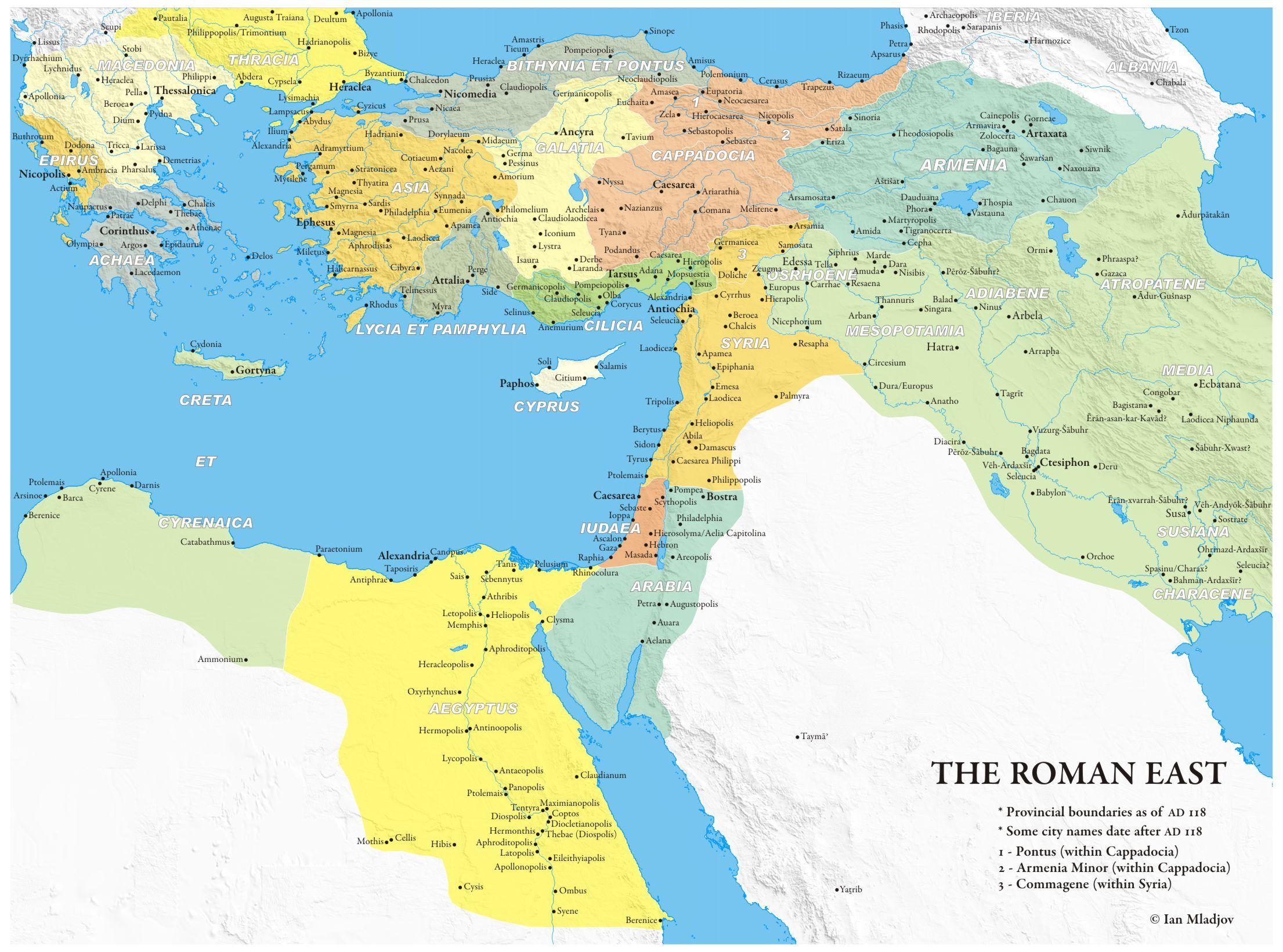 118 CE Eastern Provinces of the Roman Empire