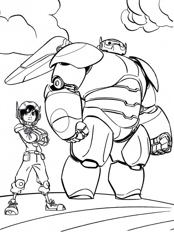 baymax coloring pages for kids - photo#7