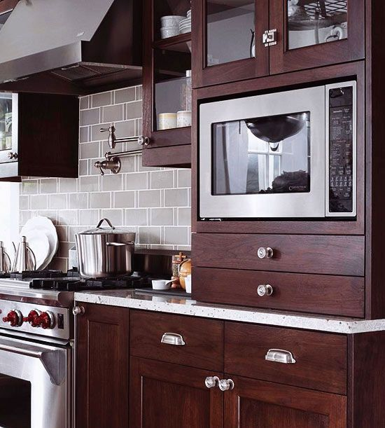 7 Space Saving Ways To Integrate A Microwave For A More Efficient Kitchen Kitchen Plans Space Saving Kitchen Kitchen Design Small