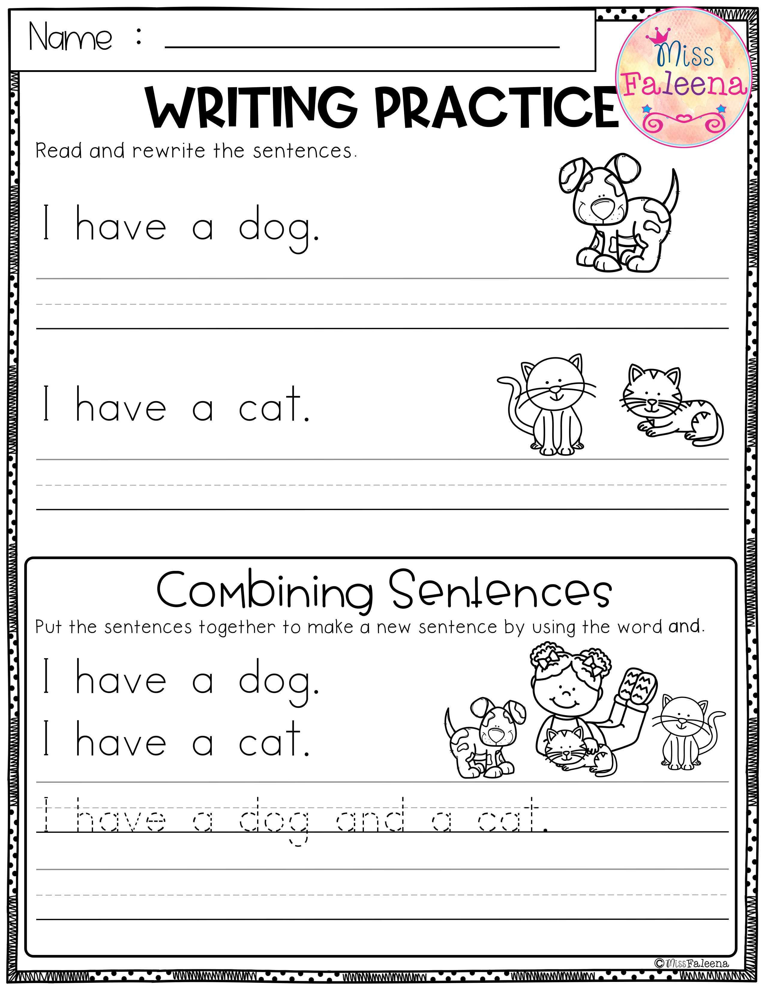 Free Writing Practice Combining Sentences Writing Practice