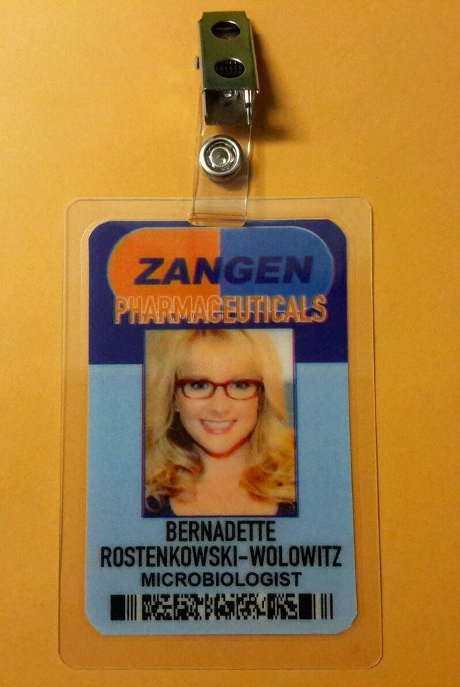 The Big Bang Theory ID Badge Comic Center Stuart prop costume cosplay