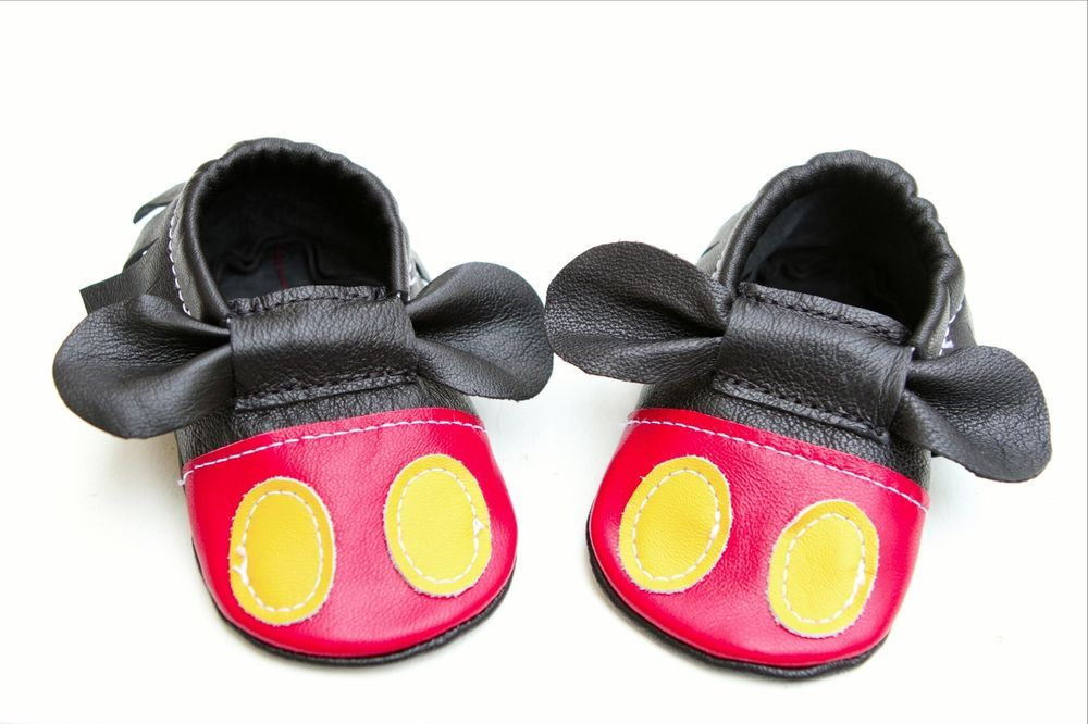 a978291c11bff Minnie Mouse Mickey Mouse Baby Moccasins #Booties | For Kids | Baby ...